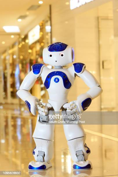 Photo session of the Nao robot at the Fashion Walk in Causeway Bay. 11SEP15