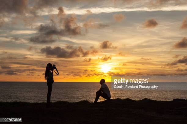 photo shoot at sunset, senegal - dakar senegal stockfoto's en -beelden