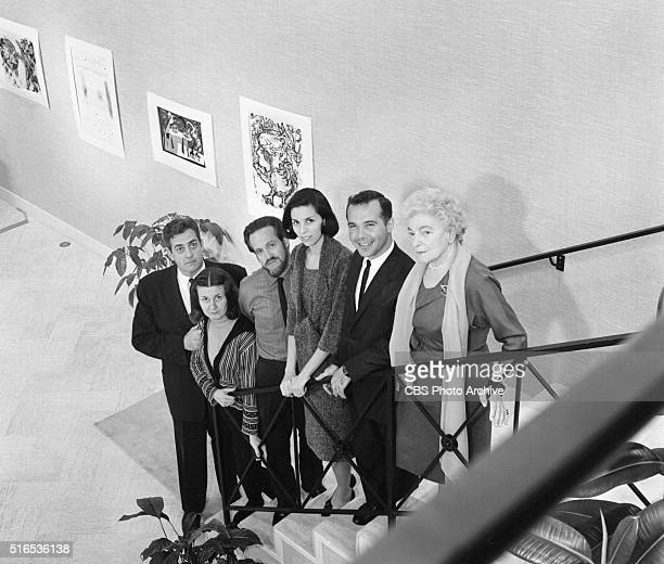 A photo shoot at the Raymond Burr Galleries 456 North Rodeo Drive Beverly Hills CA From left Raymond Burr Poko Petek Frank Petek Alice Raymondetti...