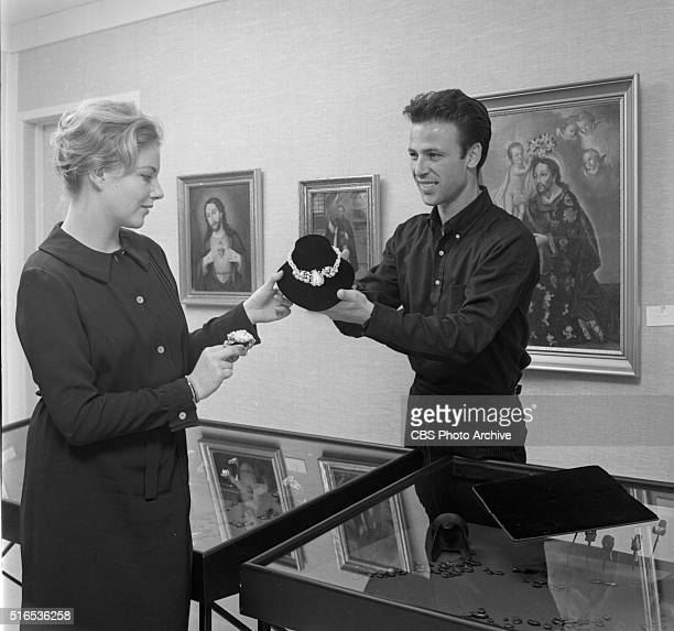 A photo shoot at the Raymond Burr Galleries 456 North Rodeo Drive Beverly Hills CA Ava Astaire who works as receptionist at the gallery and Tyler...