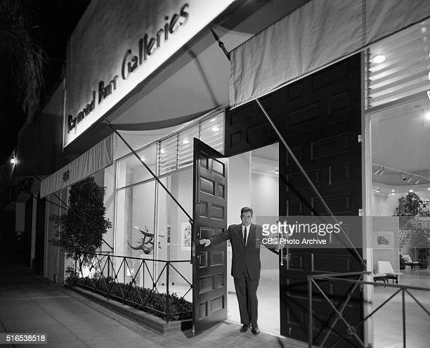 A photo shoot at the Raymond Burr Galleries 456 North Rodeo Drive Beverly Hills CA Image dated January 8 1962