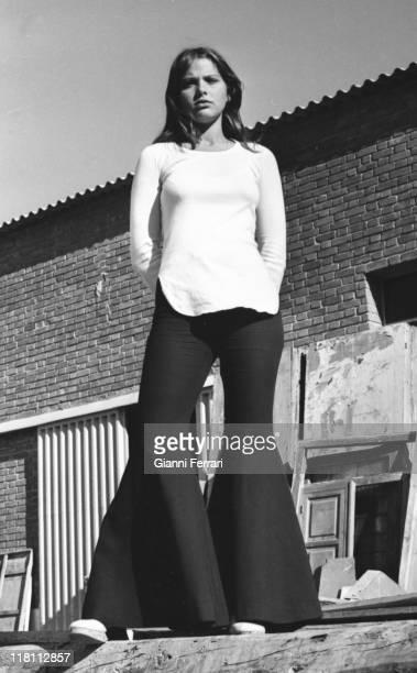 Photo shoot of the Italian actress Ornella Muti Madrid, Spain.