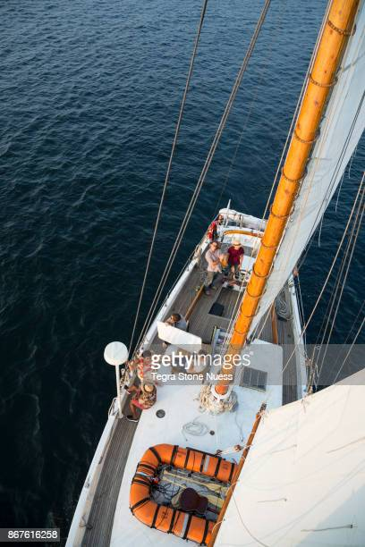 Photo shoot on a Sailboat