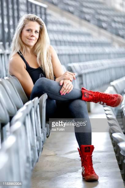 Photo shooting with MMA World Champion Julia Dorny on May 4, 2019 in Berlin, Germany.