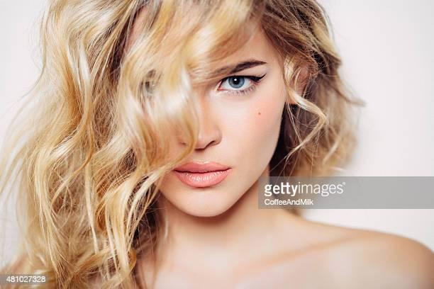 photo shot of young beautiful woman - model stock photos and pictures