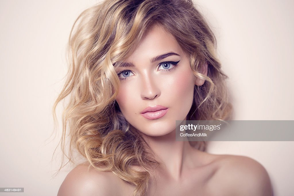 Photo shot of young beautiful woman : Stock Photo