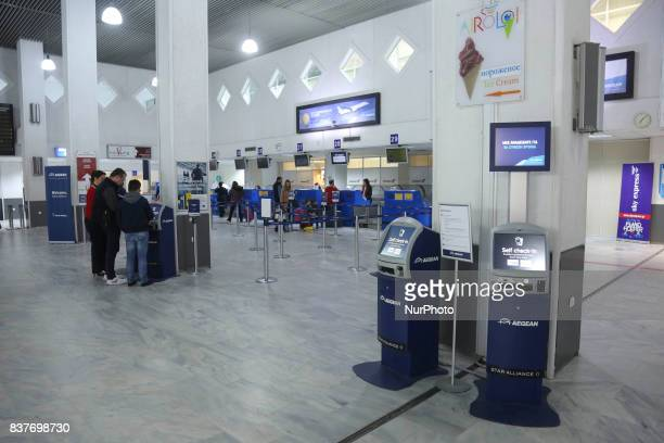 Photo show the Heraklion International Airport Nikos Kazantzakis the second busiest airport in Greece in passenger traffic after Athens international...