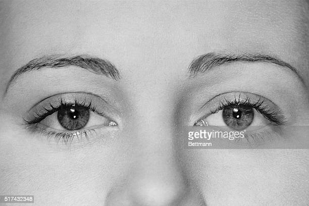 Photo shows a closeup of a woman's eyes Undated