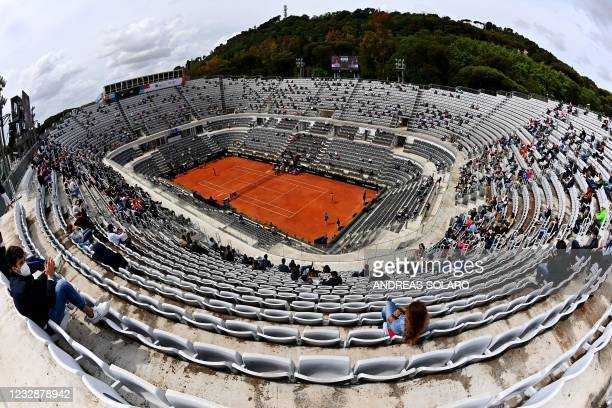 Photo shows a general view of the central field at Foro Italico in Rome during the Women's Italian Open tennis match beetween Croatia's Petra Martic...