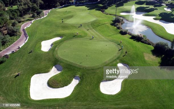 Photo shows a golf course in Antalya's Belek district, one of the most popular golf tourism destinations, on December 03, 2019 in Turkey. Antalya's...