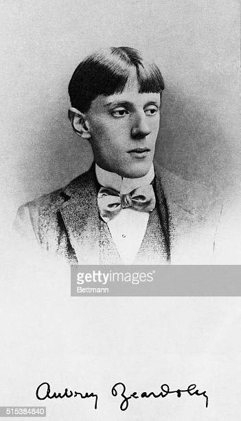 Photo shows a portrait of British illustrator Aubrey V Beardsley