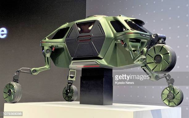 Photo shows a prototype of Hyundai Motor Co's car with legs shown at a press preview of the Consumer Electronics Show in Las Vegas Nevada on Jan 7 a...
