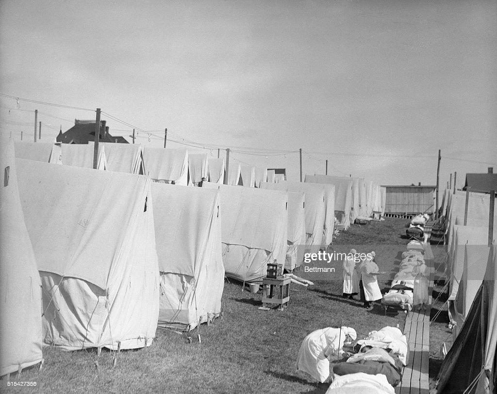 Influenza Camp in Maine : News Photo