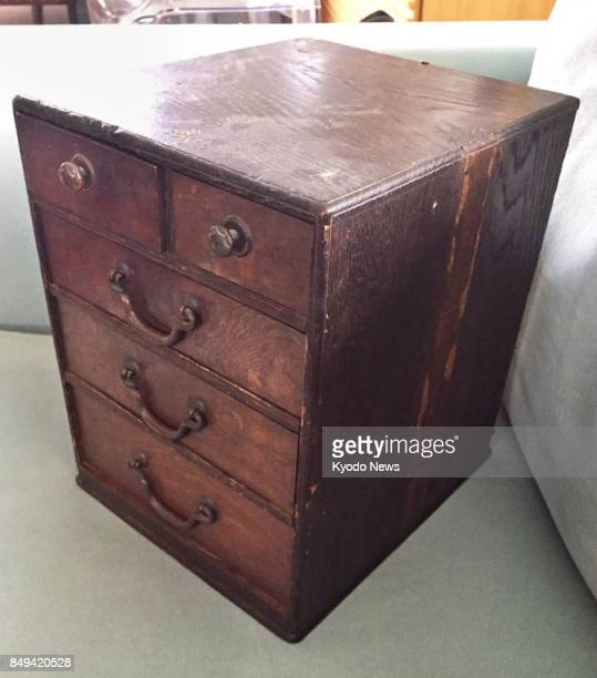 Photo shows a small antique sewing box which Anna Macdonald bought from a design store in Christchurch New Zealand 10 years ago Macdonald posted...