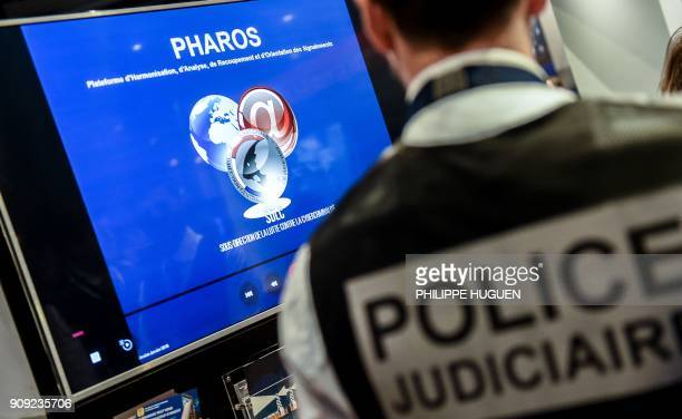 A photo shows a view of the PHAROS platform which allows for the reporting of illegal content and behavior on the internet during the 10th...