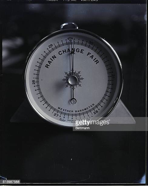Photo shows a weather barometer Undated