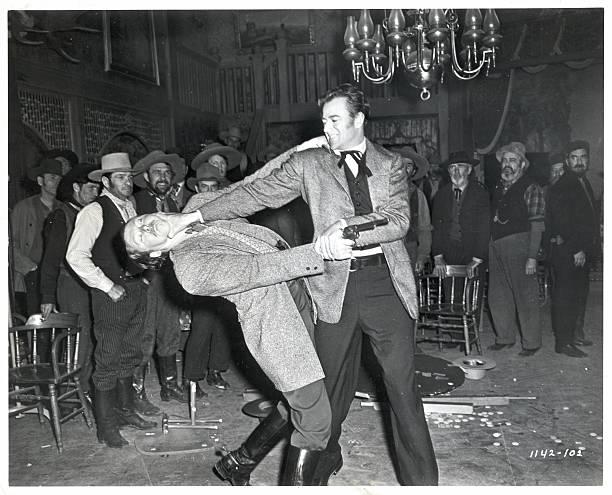 John Wayne In Saloon Brawl Scene/Movie