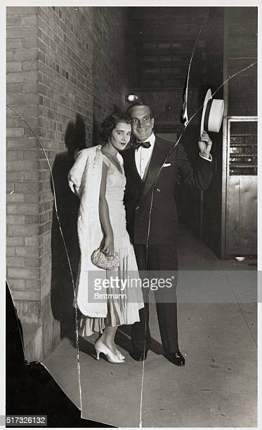 Photo shows Al Jolson and Ruby Keeler after Ruby Keeler had finished acting in Show Girl for the first time