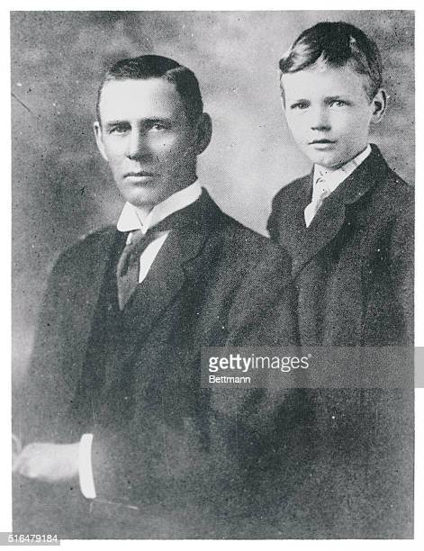 Photo shows Charles A Lindbergh photographed with his father the late Congressman from Minnesota Charles A Lindbergh Sr This photo was taken 10 years...