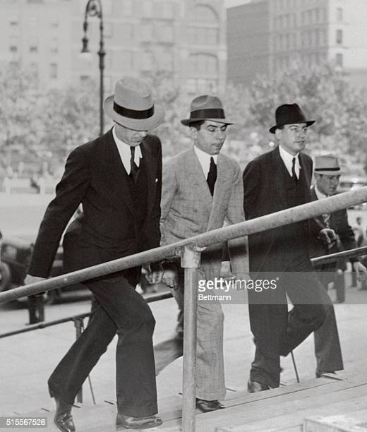 Photo shows Charles Luciano arriving at Supreme Court