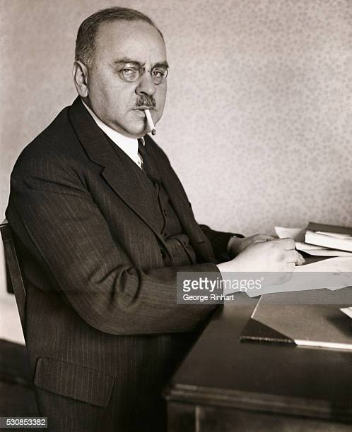 Photo shows Dr Alfred Adler noted psychiatrist of Vienna whose praise for the advanced nature of the work of the psychiatric council at Lake View...