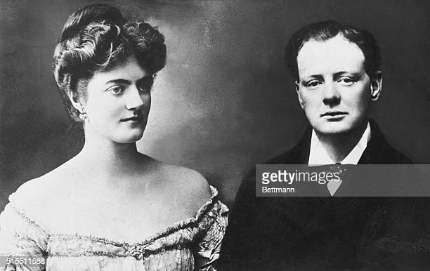 Photo shows engagment picture of Winston Churchill and Miss Clementine Hozier