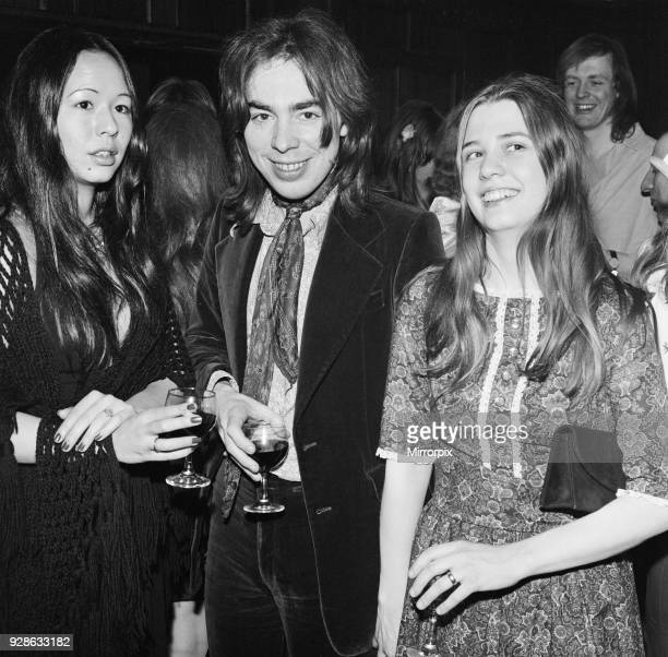 Photo shows from left to right Lady Unknown, Andrew Lloyd Webber and Sarah Hugill Opening night party at the Old Barn for Joseph and The Amazing...