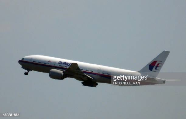 Photo shows Malaysia Airlines flight MH17 leaving Schiphol Airport in Schiphol the Netherlands on July 17 2014 Malaysia Airlines said on July 17 that...