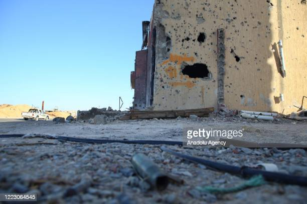 Photo shows massive destruction in the southern part of Tripoli after the entire province liberated on 4th of June from the militia loyal to warlord...
