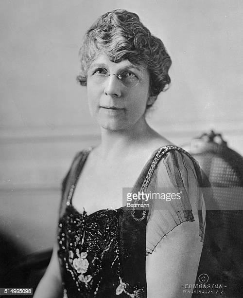 Photo shows Mrs. Florence Mabel King Harding, wife of the Republican nominee, Senator Warren Harding.