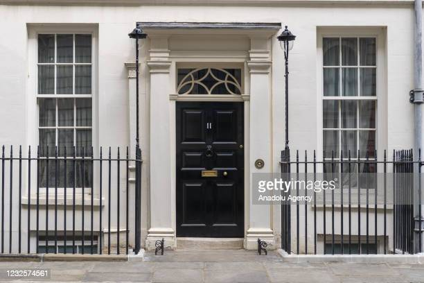 Photo shows No.11 Downing Street, the residence British Prime Minister Boris Johnson in London, United Kingdom on April 2021. The Electoral...