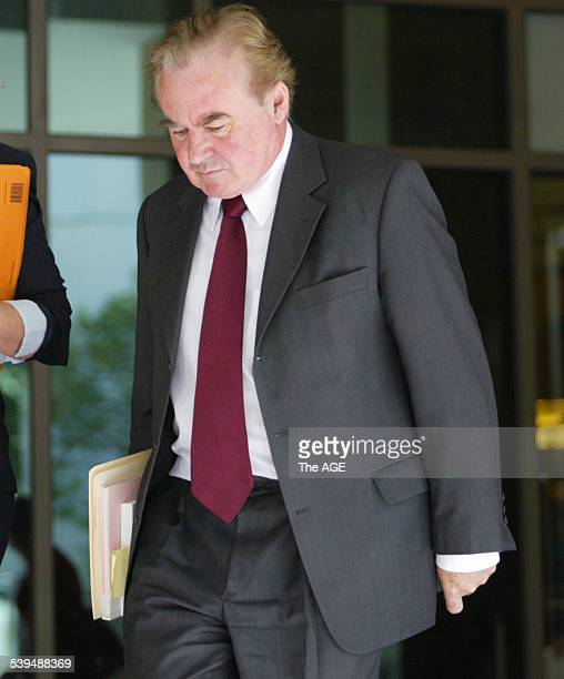 Photo shows Prosecutor Geoff Horgan SC leaving court after Magistrate approved an order to question Carl Williams over the murder of Andrew Benji...