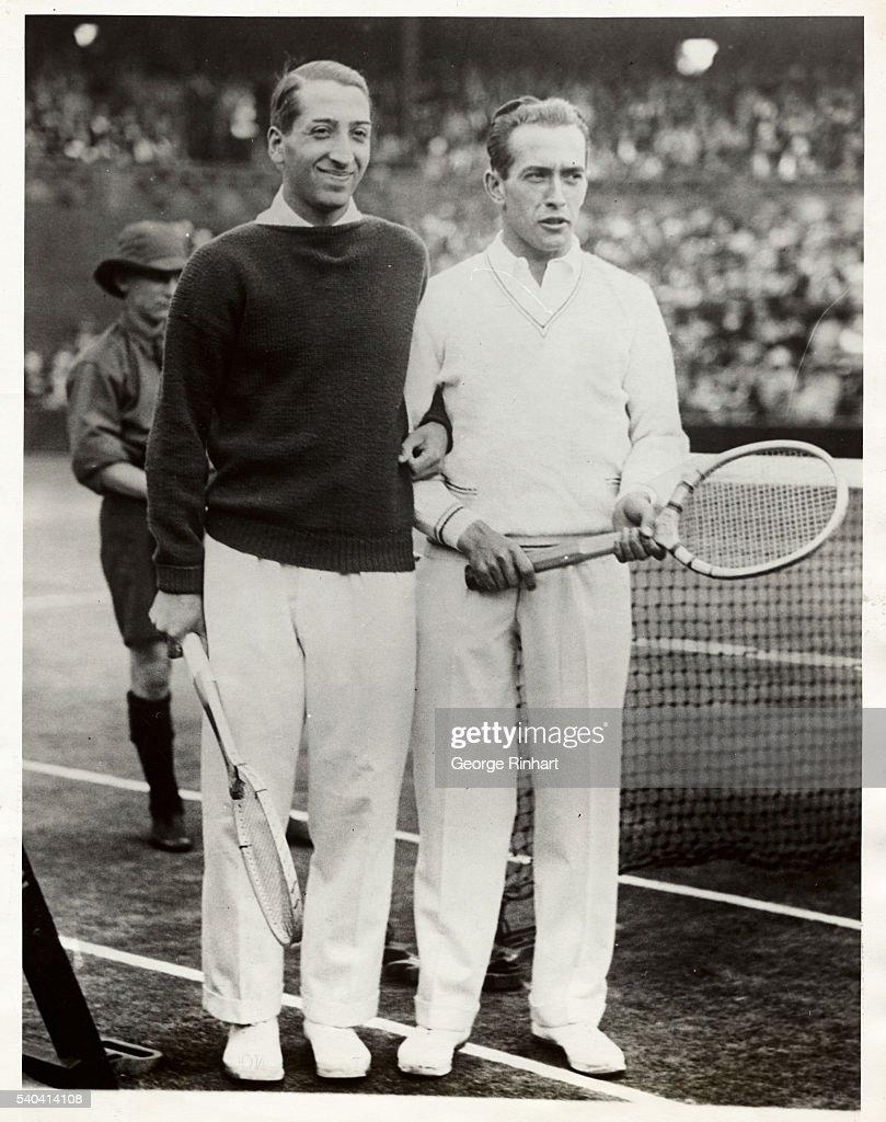 French Tennis Champions Henri Cochet and Rene LaCoste : Photo d'actualité