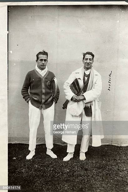 Photo shows Rene LaCoste , who was tennis champion of France at age 17, now 18; and Henri Cochet, French players who reached the semi-finals in the...