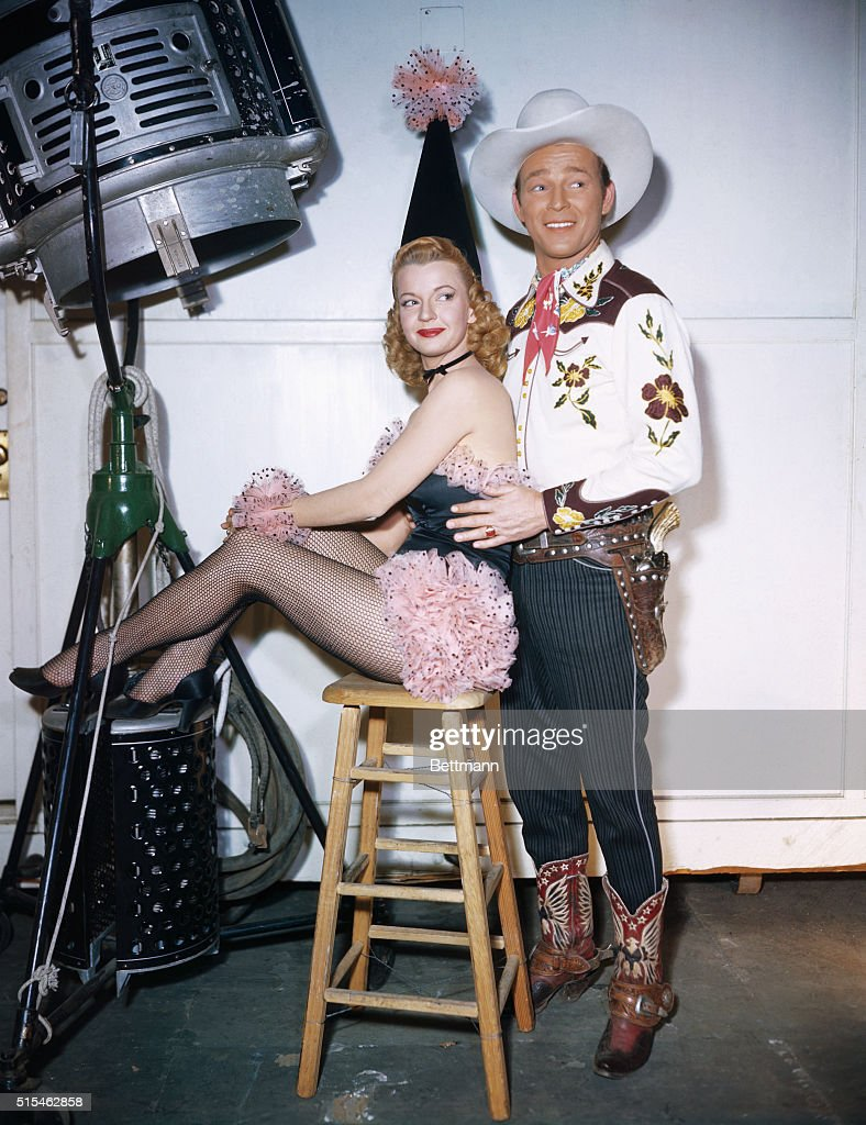 Roy Rogers and Dale Evans Posing for Photograph : News Photo