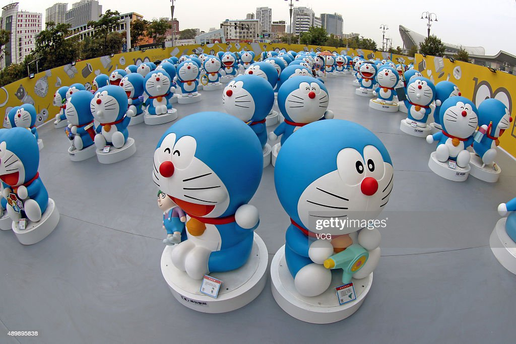 Doraemon exhibition in yantai photos and images getty images photo shows sculptures of japanese cartoon character doraemon at joy city on september 24 voltagebd Gallery