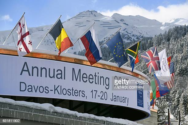 A photo shows the Congress Centre on the eve of the opening day of the World Economic Forum on January 16 2017 in Davos Inequality will be among the...