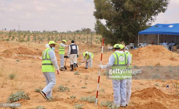 Photo shows the excavations in the mass graves found in Tarhuna after the province liberated from the militia loyal to warlord Khalifa Haftar, in...