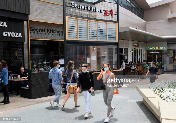 Photo shows the exterior of Secret Kitchen restaurant in Melbourne on January 3, 2021 where five Indian cricket players visited, putting them in...
