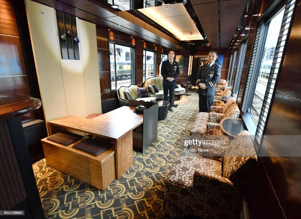 photo shows the inside of twilight express mizukaze a 10 coach