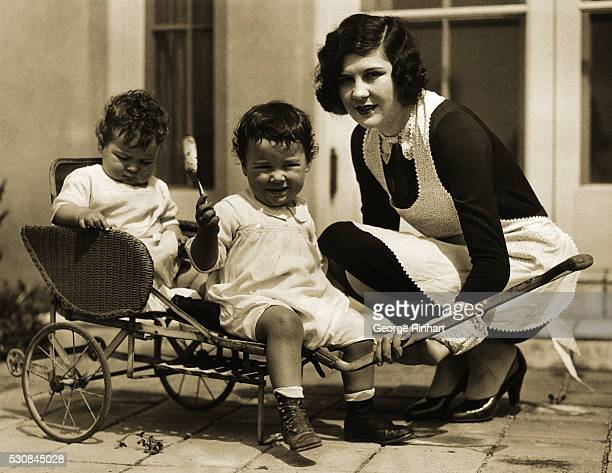 Photo shows the latest portrait of Lita Grey Chaplin wife of the celebrated comedian Charles Chaplin whose marital difficulties are now being aired...