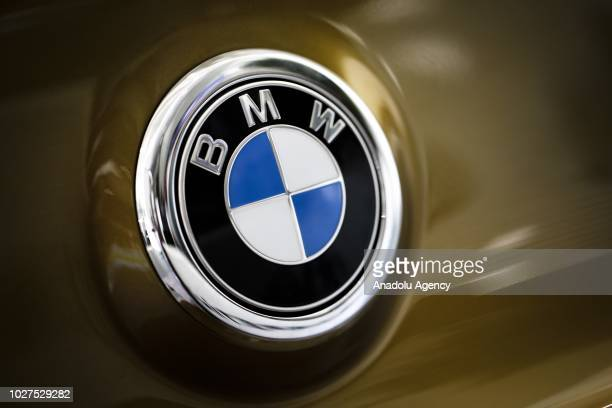 A photo shows the logo of BMW in Ankara Turkey on September 05 2018