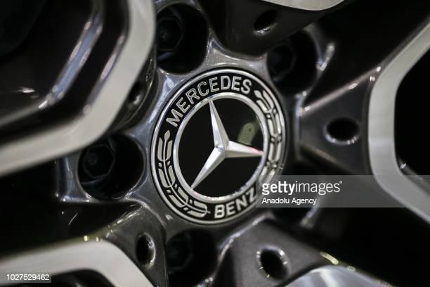 A photo shows the logo of MercedesBenz in Ankara Turkey on September 05 2018