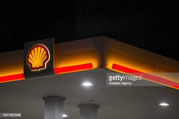 Photo shows the logo of Shell gas station in Ankara, Turkey on October 05, 2018.