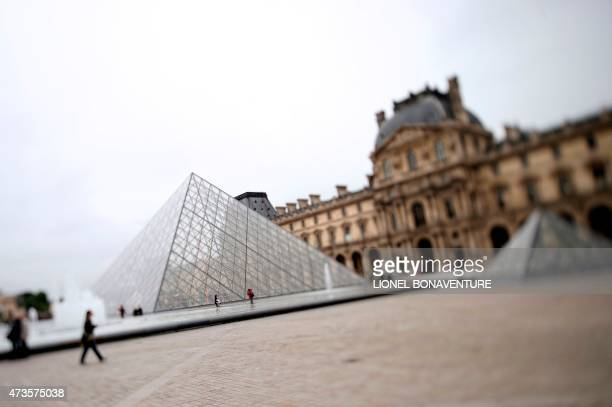 A photo shows the Pyramid of the Louvre museum on May 16 2015 in Paris AFP PHOTO LIONEL BONAVENTURE / AFP PHOTO / LIONEL BONAVENTURE