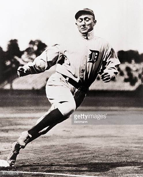 Photo shows Ty Cobb running the bases. Undated photograph. BPA 2