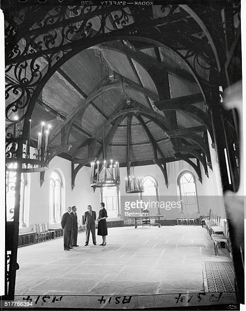 Photo shows view of Gothic Hall inside the Wave Hill residence A dinner and banquet was to be held here which would also serve as a reception room...