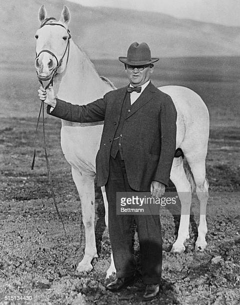 Photo shows WK Kellogg who has approximately $125000 worth of Arabian horses on his ranch plans to spend $500000 to safeguard the breeding of Arabian...