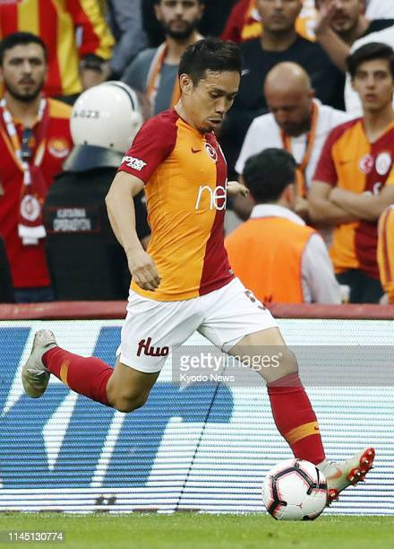 Photo shows Yuto Nagatomo of Galatasaray on the move during the first half of their 21 win against Basaksehir in Istanbul on May 19 2019 ==Kyodo
