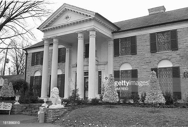 photo taken 01 August 1985 shows Graceland the Elvis Presley mansion in Memphis Tennessee LisaMarie Presley the daughter of the rock legend...